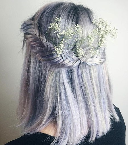 Prom-Hairtyles-for-Lavender-Hair-Color Prom Hairstyles for Short Hair