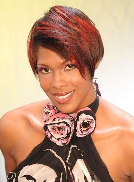 Red-Hair-Color New Short African Haircuts for Ladies