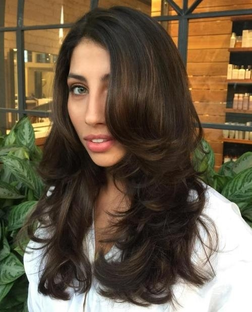 Sexy-Blowout-for-Long-Dark-Brown-Hair Impressive Haircuts and Hairstyles for Long Dark Brown Hair