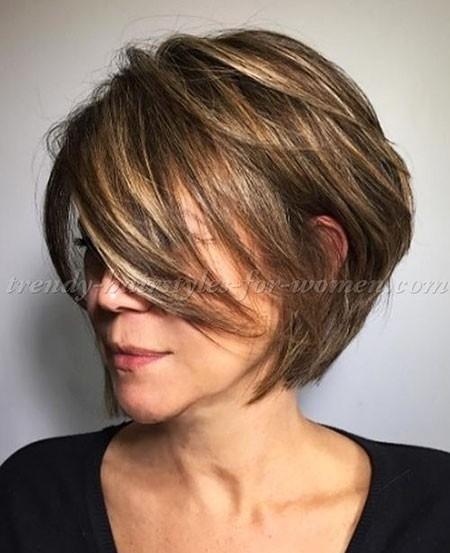 Short-Bob-Haircut-for-Older-Women Short Bob Haircuts for Older Women