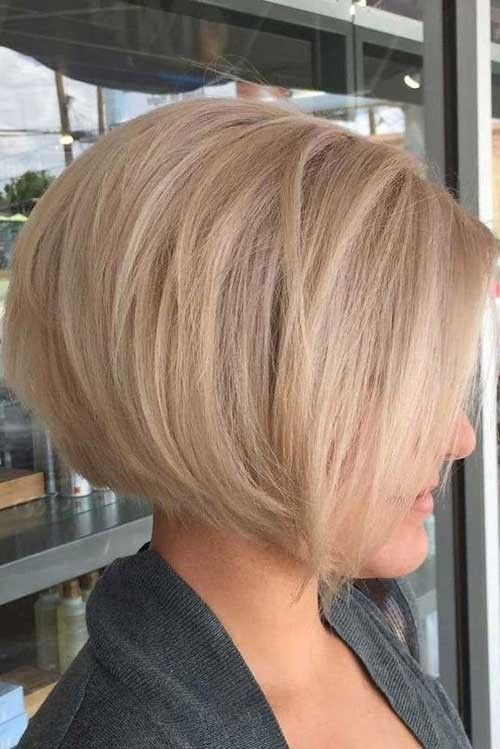 Short-Bob-Hairstyle Blonde Short Hair Ideas for Ladies