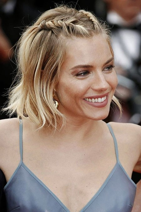 Short-Braided-Blonde-Hair Easy Braids for Short Hair