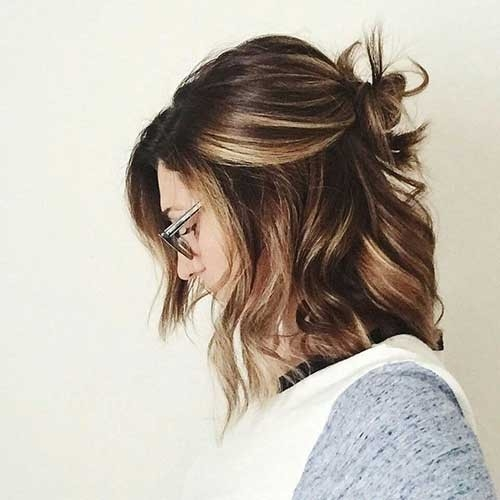 Short-Brown-Hair-with-Lowlights Remarkable Pics of Trendy Short Hairstyles for Women