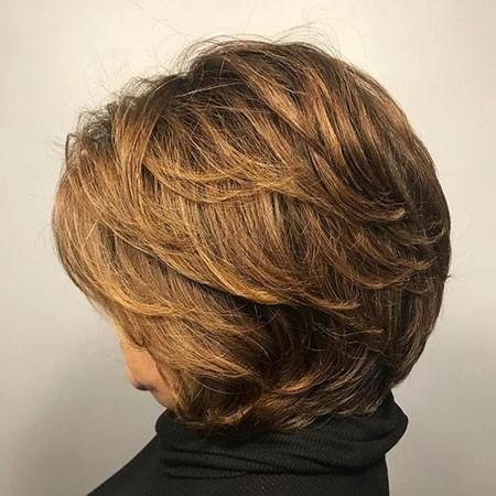 Short-Brown-Hair Short Bob Haircuts for Older Women