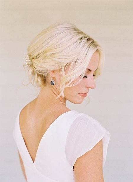 Short-Classic-Updo Wedding Hairstyles for Short Hair