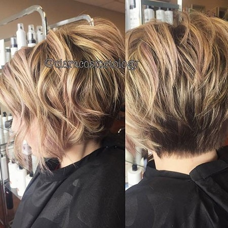 Short-Layered-Bob-Hairtyles New Short Layered Hairstyles 2018