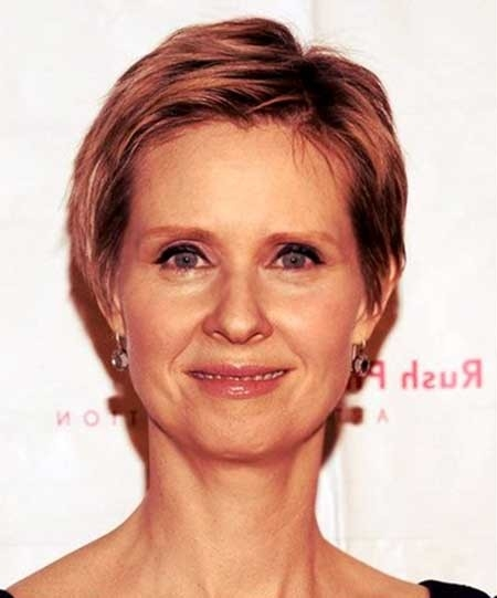 Short-Side-Parted-Boyish-Haircut Best Short Haircuts for Older Women