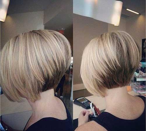 Short-Stacked-Bob-Haircut Chic Short Bob Haircuts for 2018