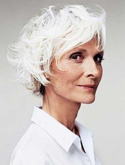 Short-White-Bob-for-Women-Over-70 Best Short Haircuts For Women Over 70