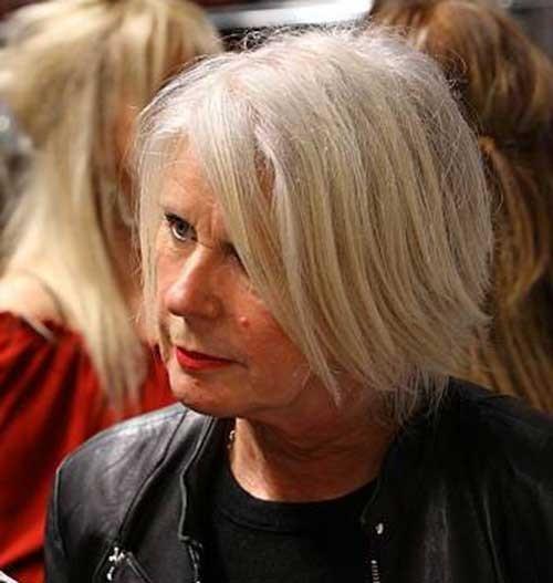 Simple-Bob-Cut Short Haircuts for Older Women 2018-2019