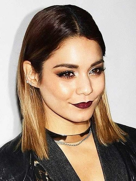 Straight-Hairtyle Ombre Hairstyles for Short Hair