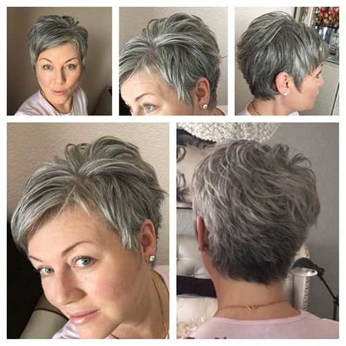Stylish-Pixie-Haircut-for-Thin-Hair Best Short Haircuts for Older Women