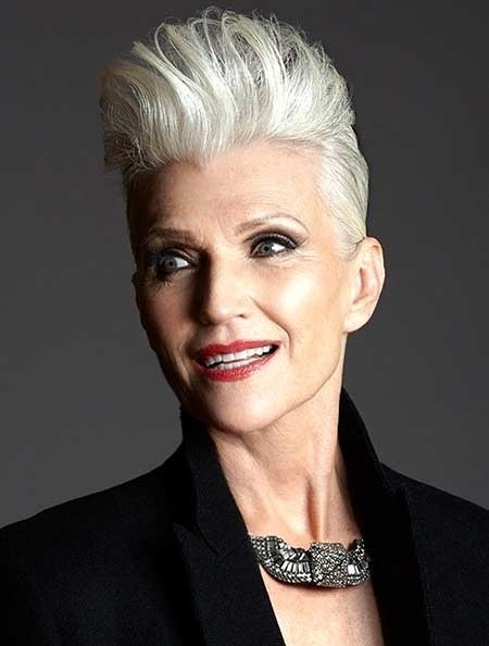 The-Mohawk-Style-Haircut-for-Older-Women Best Short Haircuts for Older Women