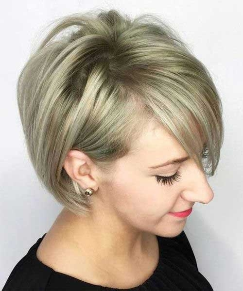 Thinning-Hair-Style Blonde Short Hair Ideas for Ladies