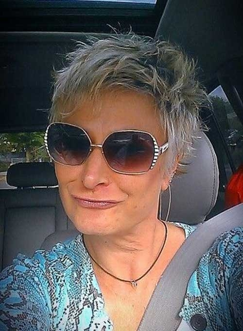 Trendy-Spiky-Pixie Best Short Haircuts for Older Women