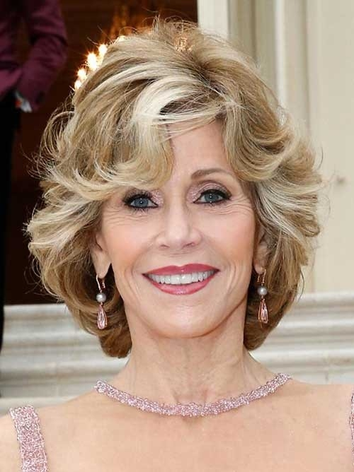 Wavy-Highlighted-Bob-for-Women-Over-70 Best Short Haircuts For Women Over 70