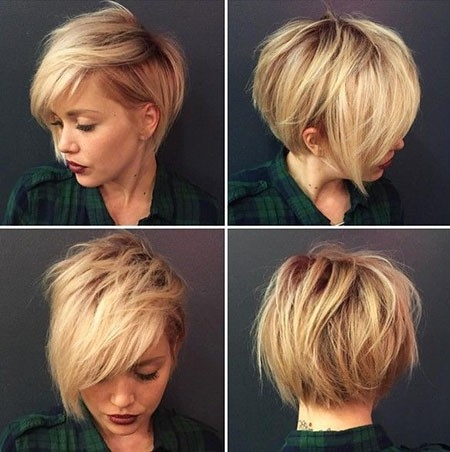 Wavy-Pixie-Hairtyle Cute Short Haircuts for Girls