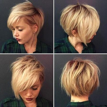 Wavy-Pixie-Hairtyle Cute Short Haircuts for Girls