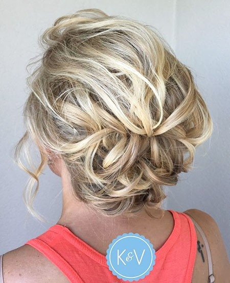 Wavy-Updo-Hairstyle Updo Hairstyles for Short Hair