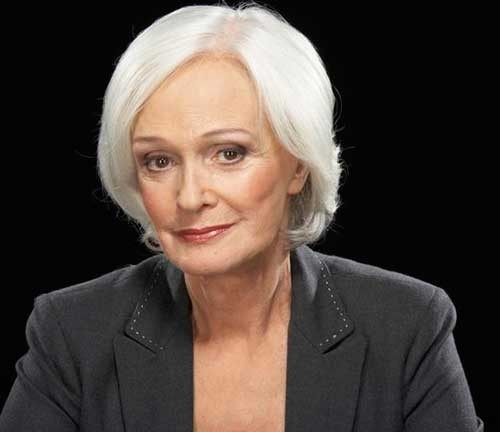White-Hair-Naturally Short Haircuts for Older Women 2018-2019