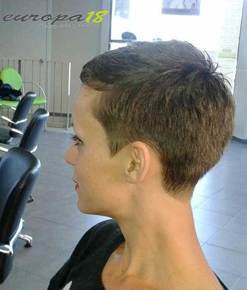 Woman-with-Buzzed-Hair Superb Short Pixie Haircuts for Women