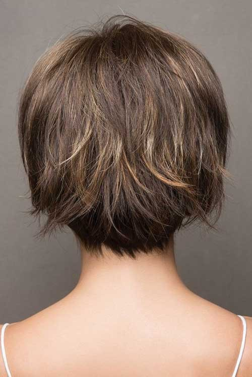 Back-View-Layered-Bob Latest Bob Haircuts for 2018