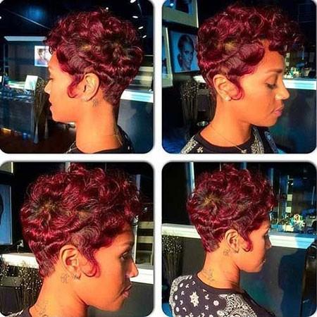 Big-Curls Short Natural Haircuts for Black Women