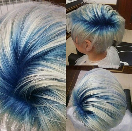 Blue-Hair Best Short Blue Hair