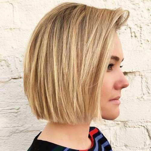 Blunt-Blonde-Bob-Hair Latest Bob Haircuts for 2018