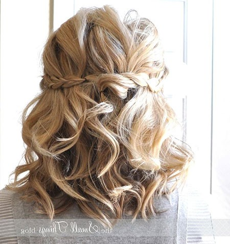 Braided-Updo-Hair Bridal Hairstyles for Short Hair