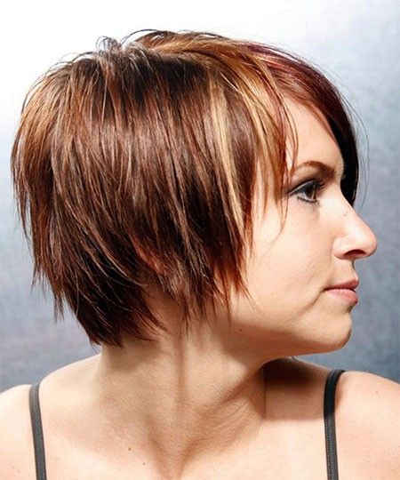 Choppy-Hair Short Hairstyles for Chubby Faces