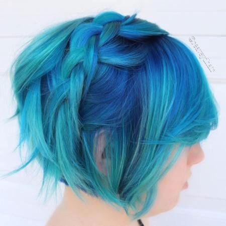 Cool-Braided-Hair Best Short Blue Hair