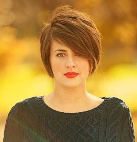 Cool-Pixie-Hair Short Hairstyles for Chubby Faces