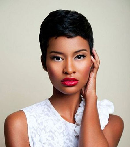 Cute-Short-Haircut-Styles-for-Black-Women Cute Short Hairstyles for Black Women