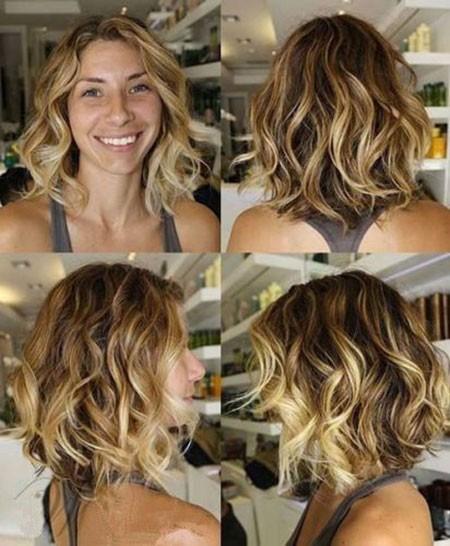 Dark-Blonde-Hair Short Hairstyles for Wavy Hair