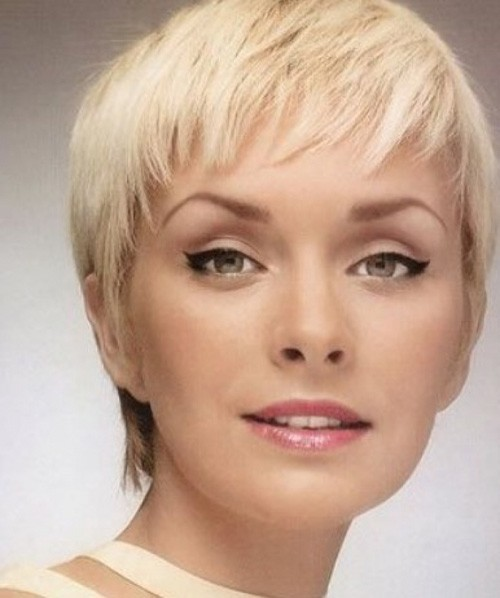 Edgy-short-pixie-cut-round-face Very Short Pixie Haircuts for Women