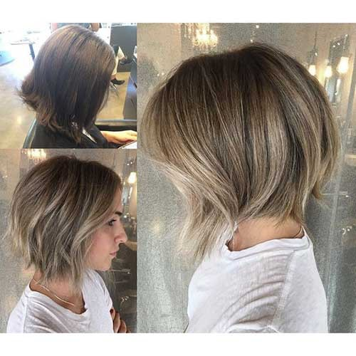 Hair-Cut-and-Color-Idea Beautiful Layered Short Haircuts for Ladies