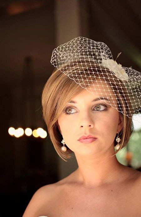Hairdo-for-Wedding-Short-Hair Bridal Hairstyles for Short Hair