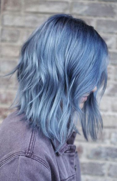 Layered-Hairstyle Best Short Blue Hair
