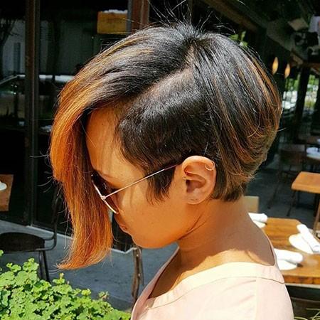 Long-Bangs Best Short Hairstyles for Black Women