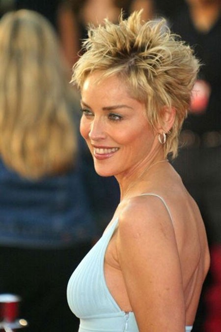 Long-Gorgeous-Pixie-Cut New Sharon Stone Short Hairstyles