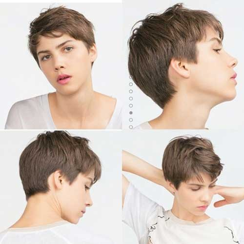 Messy-Short-Hair-Pixie-Haircuts Best Pixie Haircuts for 2018