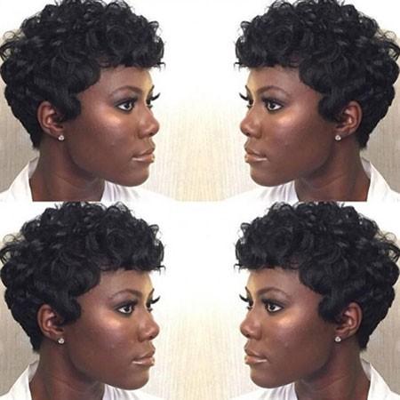 Pin-Curls-for-Short-Black-Hair Short Natural Haircuts for Black Women