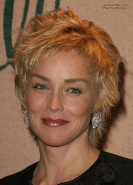 Pixie-Cut New Sharon Stone Short Hairstyles