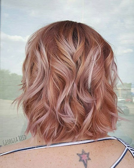 Rose-Gold-Hair-Color-2017-Summer Best Short Hair Color Ideas