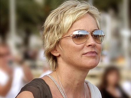 Sharon-Stone-Short-Hairtyle New Sharon Stone Short Hairstyles