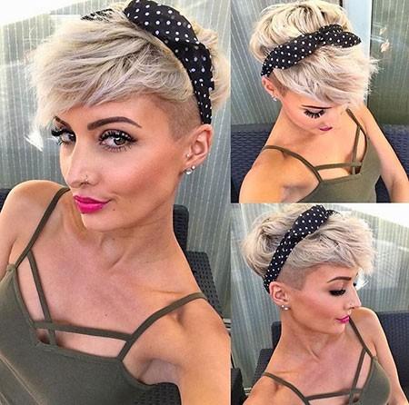 Short-Hair-Part-Shaved Short Cute Hairstyles