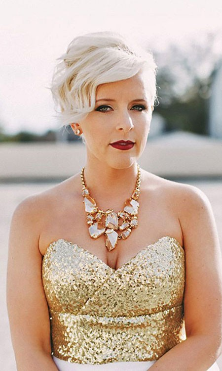 Short-Hair-with-Bangs-1 Bridal Hairstyles for Short Hair