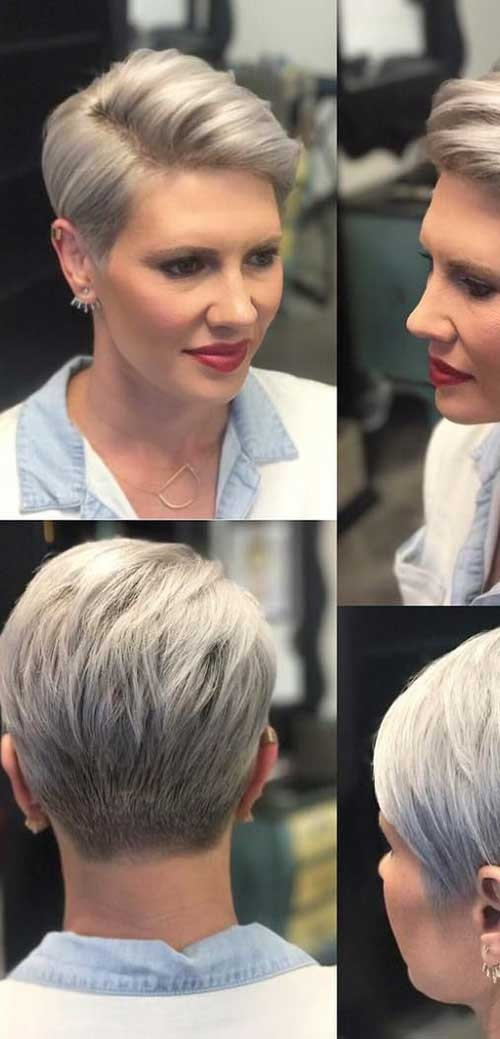 Side-Part-Pixie-Haircut Best Pixie Haircuts for 2018