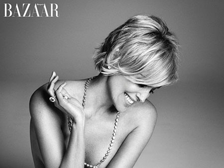 Side-swept-Hair New Sharon Stone Short Hairstyles